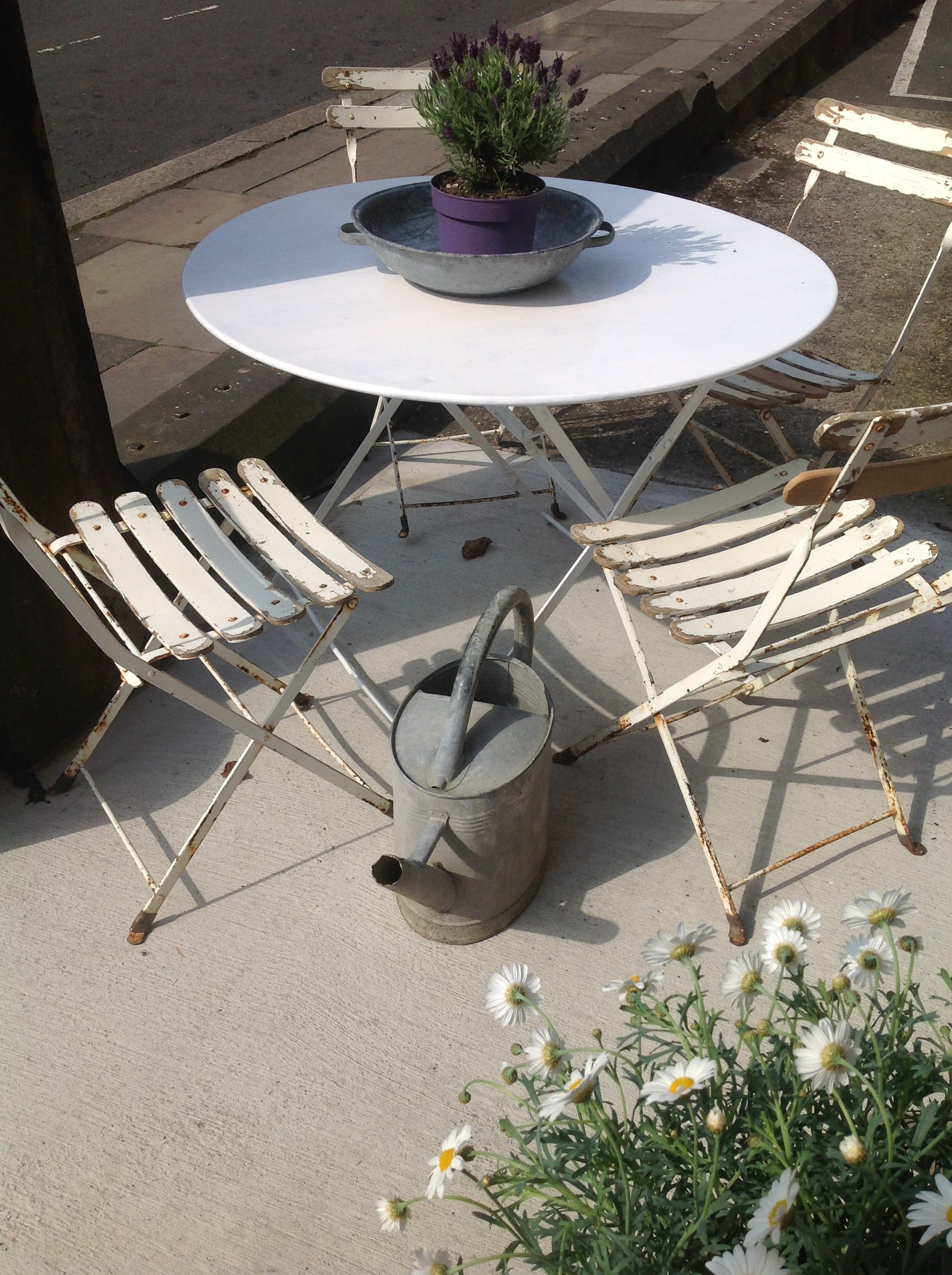 A Set Of French Garden Table And Chairs Antiquites Francaises