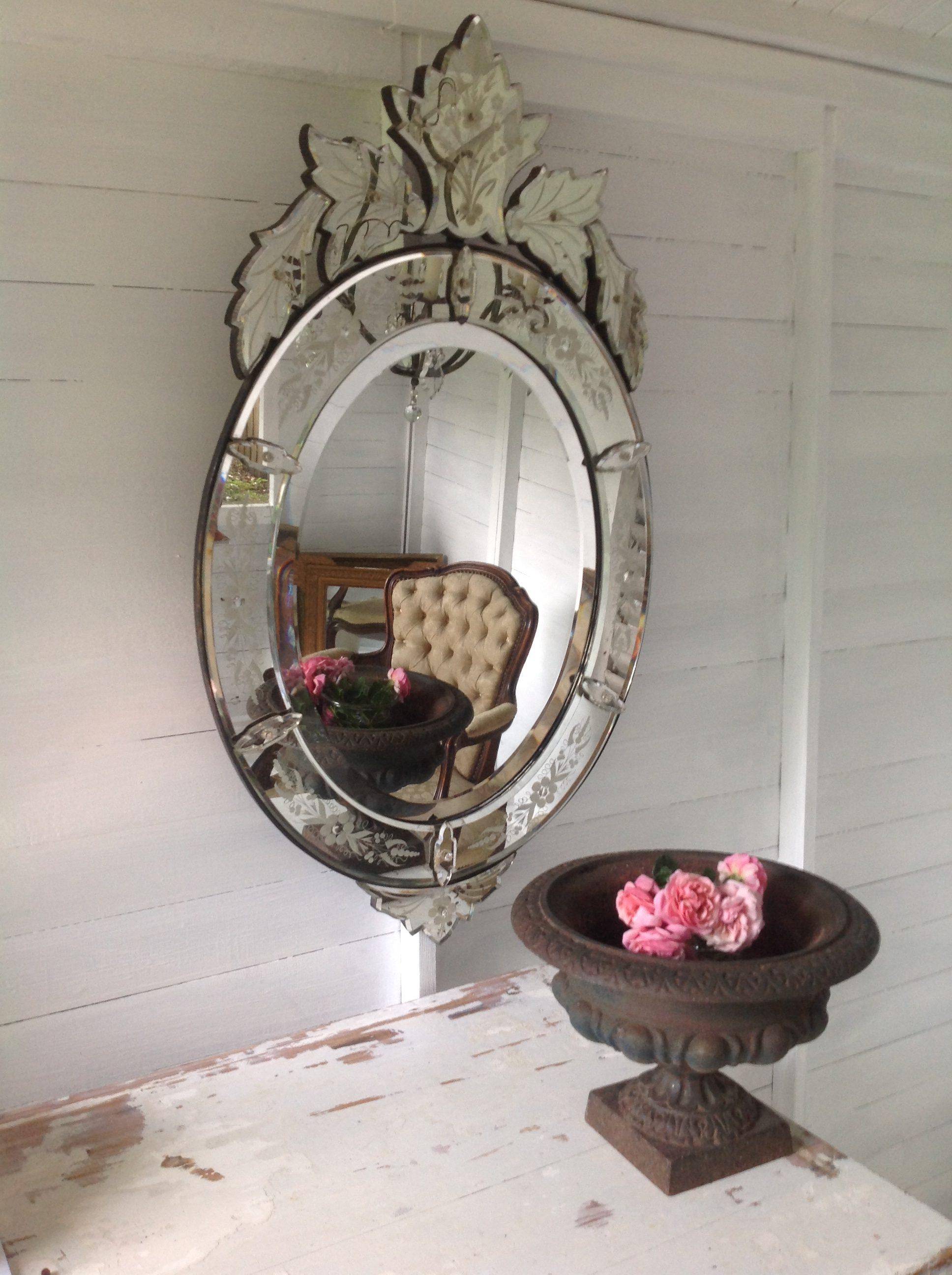 Antique Venetian Mirror Antiquites Francaises